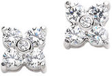 Lord & Taylor Platinum Plated Flower Shape Earrings