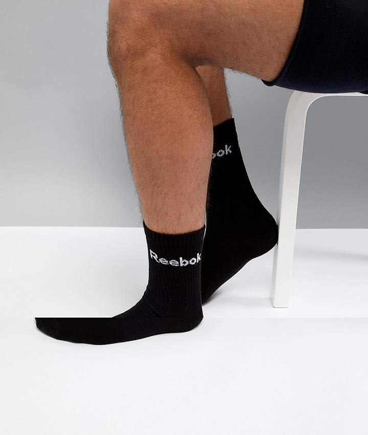 Reebok Training 3pack socks in black ab5280