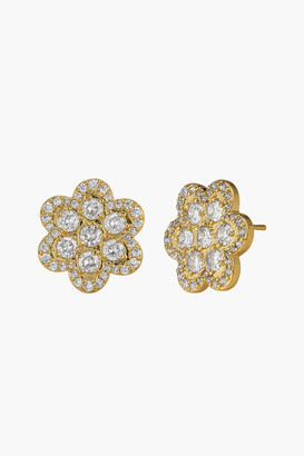 Asha Delphine Pave Stud Earrings