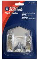 Spear & Jackson Tool Hooks - Silver