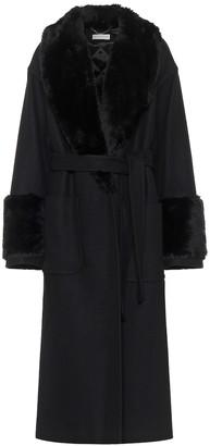 Dries Van Noten Wool-blend belted coat