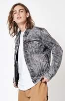 Levi's Acid Wash Black Denim Trucker Jacket