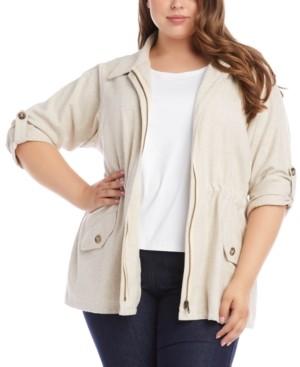 Karen Kane Plus Size Roll-Tab Cargo Jacket