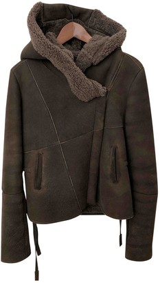 Humanoid Brown Leather Jacket for Women