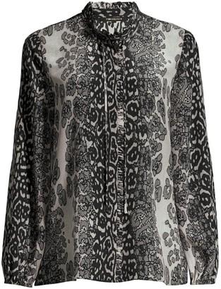 Kobi Halperin Regina Printed Silk Blouse