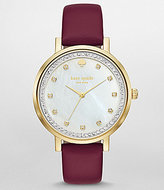 Kate Spade Monterey Mother-of-Pearl Analog Leather-Strap Watch