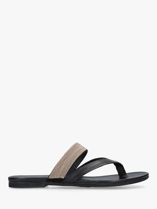 Kurt Geiger London Mae Leather Toe Thong Sandals
