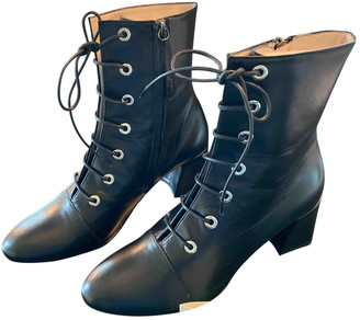 ALEXACHUNG Alexa Chung Black Leather Ankle boots