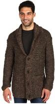 John Varvatos Double Layer Shawl Collar Sweater (Stingray) - Apparel