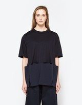 Marni S/S Crew Neck T-shirt in Blue/Black
