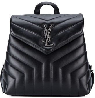 Saint Laurent Small Monogram Leather Backpack