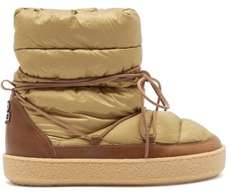 Isabel Marant Zimlee Lace-up Leather-trimmed Snow Boots - Beige