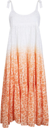 Juliet Dunn Ombre Floral Cotton Midi Dress