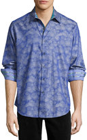 Robert Graham Palmdale Long-Sleeve Sport Shirt, Blue