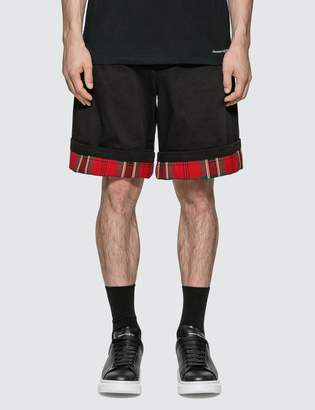 Alexander McQueen Check Turn Up Shorts