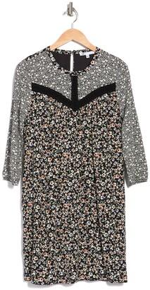 Dr2 By Daniel Rainn Print Lace Inset Dress
