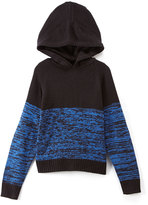 English Laundry Blue & Black Color Block Pullover Hoodie - Boys