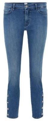 HUGO BOSS Slim-fit jeans in red-cast stretch denim