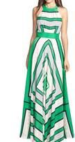 YACUN Women's Floral Sleeveless Halter Chiffon Maxi Party Dress XL