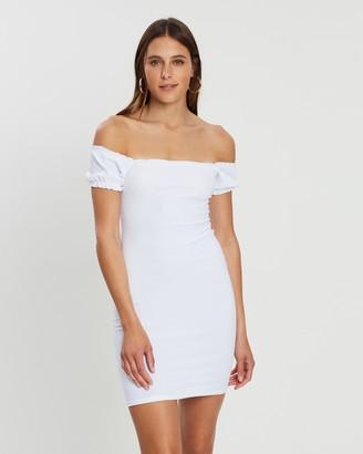 Missguided Milkmaid Square Neck Shirred Mini Dress