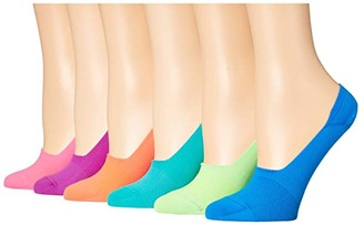 Sof Sole Nylon Neon Footie 6-Pack (Assorted) Women's Crew Cut Socks Shoes