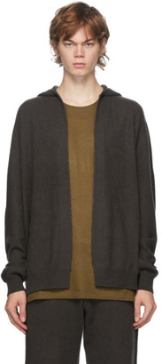 Frenckenberger Green Cashmere Open Front Hoodie