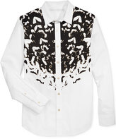 Sean John Men's Metallic Graphic-Print Shirt, Only at Macy's