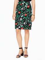 Kate Spade Jardin tile jacquard pencil skirt
