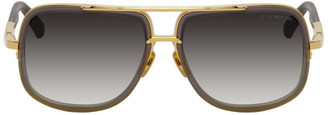 Dita Grey and Gold Mach-One Sunglasses