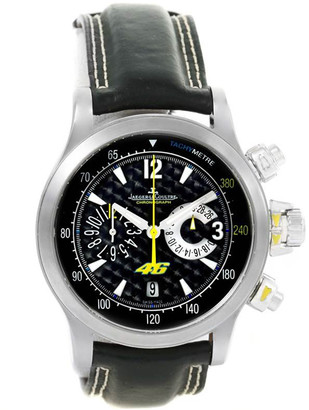 Jaeger-LeCoultre Jaeger Lecoultre Black Stainless Steel Master Compressor Valentino Rossi 146.8.25 Men's Wriswatch 41.5MM