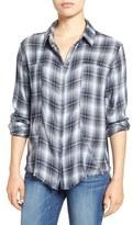 Signorelli Plaid Frayed Hem Shirt