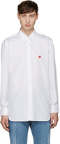 Comme des Garcons White Small Heart Shirt