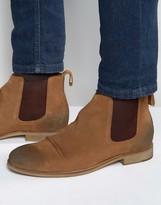 Dead Vintage Chelsea Boots Tan Suede