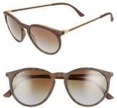Ray-Ban 53mm Polarized Round Sunglasses