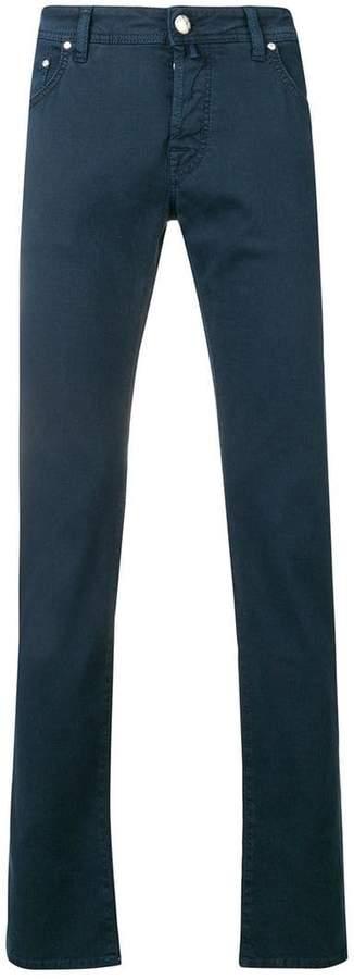 Jacob Cohen logo handkerchief slim jeans