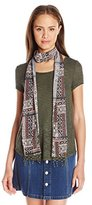 Almost Famous Women's Short Sleeve Tee with Scarf