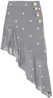 REJINA PYO Ella checked cotton-blend skirt