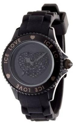 Swarovski Ice-Watch Ice-Love Crystal Black Unisex Watch LOBKUS10