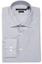 John Varvatos Men's Soho Slim Fit Stretch Check Dress Shirt