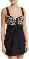 Athena Sand Tropez Swim Dress, Black