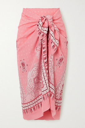 Etro Paisley-print Voile Pareo - Pink