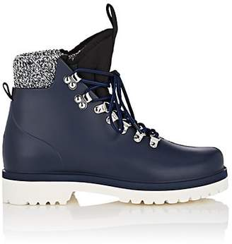 Barneys New York Women's Victor Rubber Lace-Up Ankle Boots - Navy