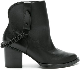 Nk Leather Calf Length Boots
