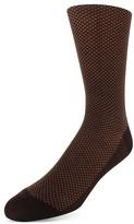 Bruno Magli Birds Eye Pattern Dress Socks