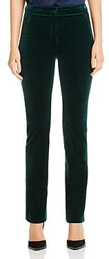 Elie Tahari Leena Velvet Slim-Leg Pants