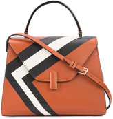 Valextra contrast-stripe tote - women - Leather - One Size