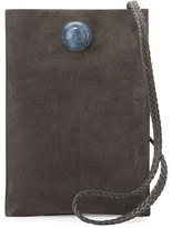 The Row Small Suede Medicine Pouch Bag, Gray