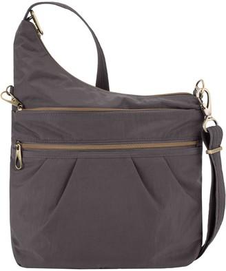 Travelon Anti-Theft Signature Three-CompartmentCrossbody Bag