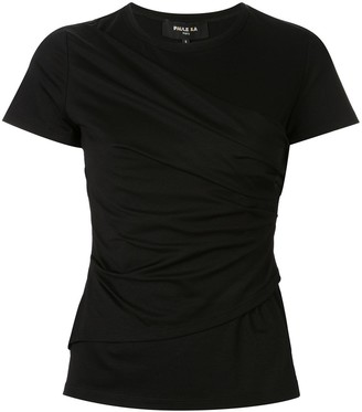 Paule Ka draped crew neck T-shirt