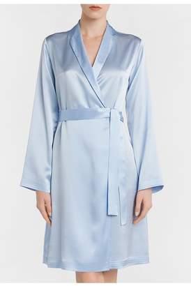 La Perla Silk Azure Silk Short Robe